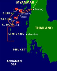 amazing diving liveaboard in Thailand