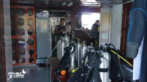Technical dive deck