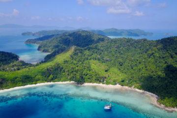 Scuba Libre Adventures_Burma Tour_Thai Sea_Kyun Pila bay drone view(H479)