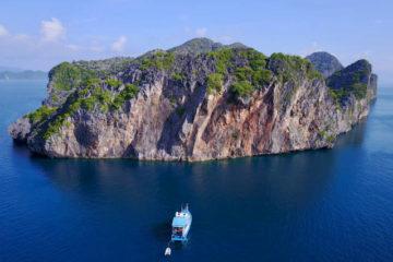 Scuba Libre Adventures_Burma Tour_Thai Sea_Volcano opposite drone view(H479)